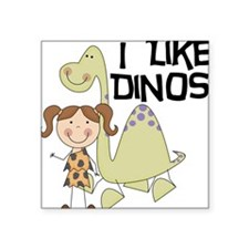 "LIKEDINOS.png Square Sticker 3"" x 3"""