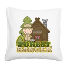 FORESTRANGERBOY3.png Square Canvas Pillow