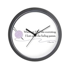 """Whenever I Feel Like Exercising"" Wall Clock"