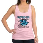 401ISitFRACTUREDskullblue copy.png Racerback Tank