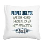 Medication copy.png Square Canvas Pillow