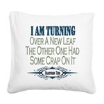New Leaf copy.png Square Canvas Pillow