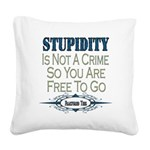 Stupidity copy.png Square Canvas Pillow