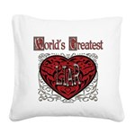 GreatestFracturedLiar.png Square Canvas Pillow