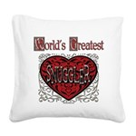 GreatestFracturedSnuggler.png Square Canvas Pillow