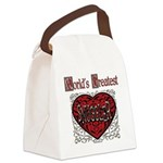 GreatestFracturedSnuggler.png Canvas Lunch Bag