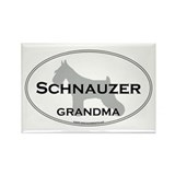 Schnauzer GRANDMA Rectangle Magnet