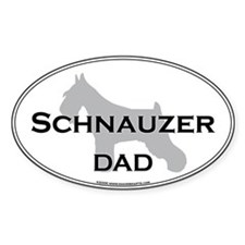 Schnauzer DAD Oval Decal