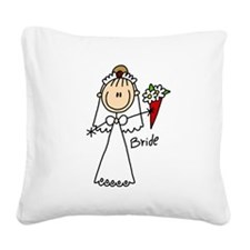 wedstickfigure5.png Square Canvas Pillow