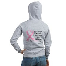 Heart Niece Breast Cancer Zip Hoodie