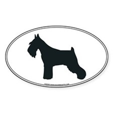 Schnauzer Silhouette Oval Decal