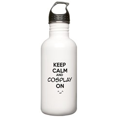 keep calm and cosplay on Water Bottle