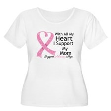 Heart Mom Breast Cancer T-Shirt