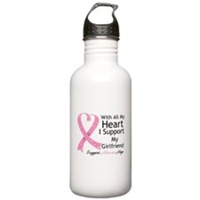 Heart Girlfriend Breast Cancer Water Bottle