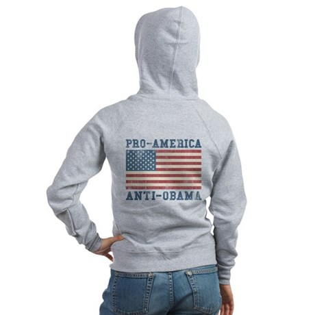 V. Pro-America Anti-Obama Women's Zip Hoodie