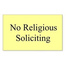 No Religious Soliciting Decal
