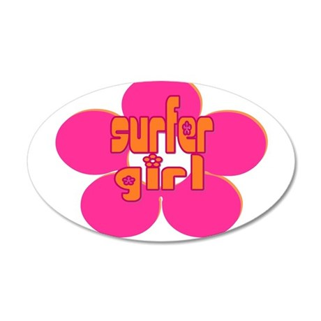 Surfer Girl 20x12 Oval Wall Decal