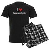 I Heart Japanese Spitz pajamas