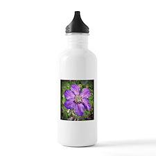 Purple Flower Sports Water Bottle