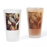 Two Dogs Sleeping Drinking Glass