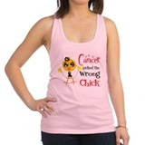Melanoma Picked The Wrong Chick Racerback Tank Top