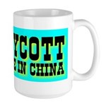 Boycott Made In China K9 Kill Large Mug