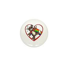 I hart teddy bears Mini Button (100 pack)