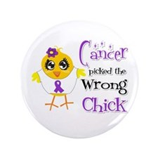 "GIST Cancer Picked The Wrong Chick 3.5"" Button (10"