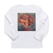 I Love My Wiener Long Sleeve Infant T-Shirt