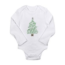 Oh holy night tree Long Sleeve Infant Bodysuit
