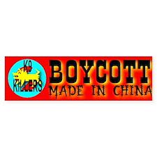 Boycott Made In China K9 Kill Bumper Car Sticker