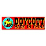 Boycott Made In China K9 Kill Bumper Sticker