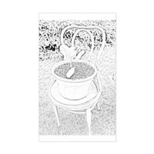 Pot in Chair Rectangle Decal