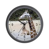 Giraffes at Rest Wall Clock