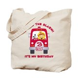 Fire Truck 3rd Birthday Boy Tote Bag