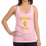 Softball Chick Racerback Tank Top