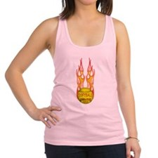2-Softball Feel Fire png.png Racerback Tank Top