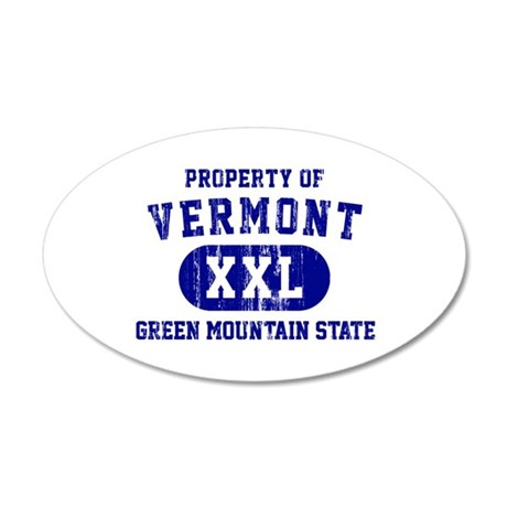 Property of Vermont, Green Mountain State 35x21 Ov