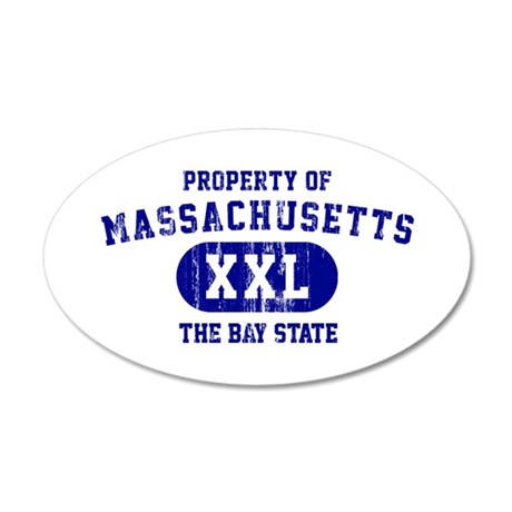 Property of Massachusetts the Bay State 35x21 Oval