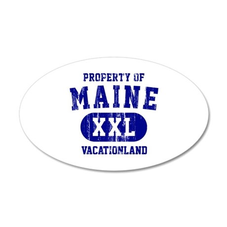 Property of Maine the Vacationland 20x12 Oval Wall