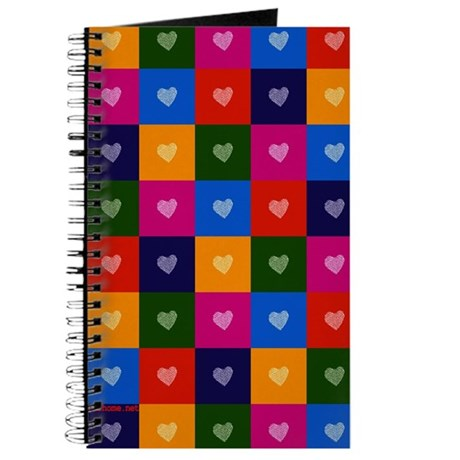 Colorful Hearts Pregnancy Journal