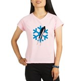 ski flying jump skiing Performance Dry T-Shirt