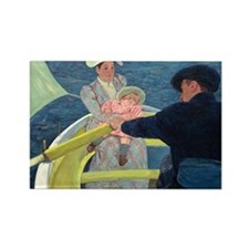 Cassatt - Boating Party Rectangle Magnet
