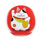 "Good Luck Maneki Neko 3.5"" Button"