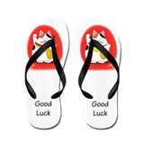 Good Luck Maneki Neko Flip Flops