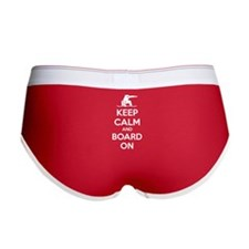 Keep calm and board on Women's Boy Brief