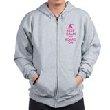 Keep calm and board on Zip Hoody