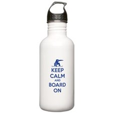 Keep calm and board on Water Bottle