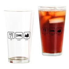 Eat Sleep Drum Drinking Glass