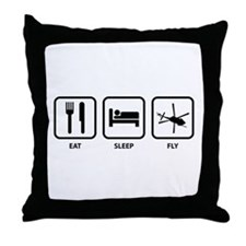 Eat Sleep Fly Throw Pillow